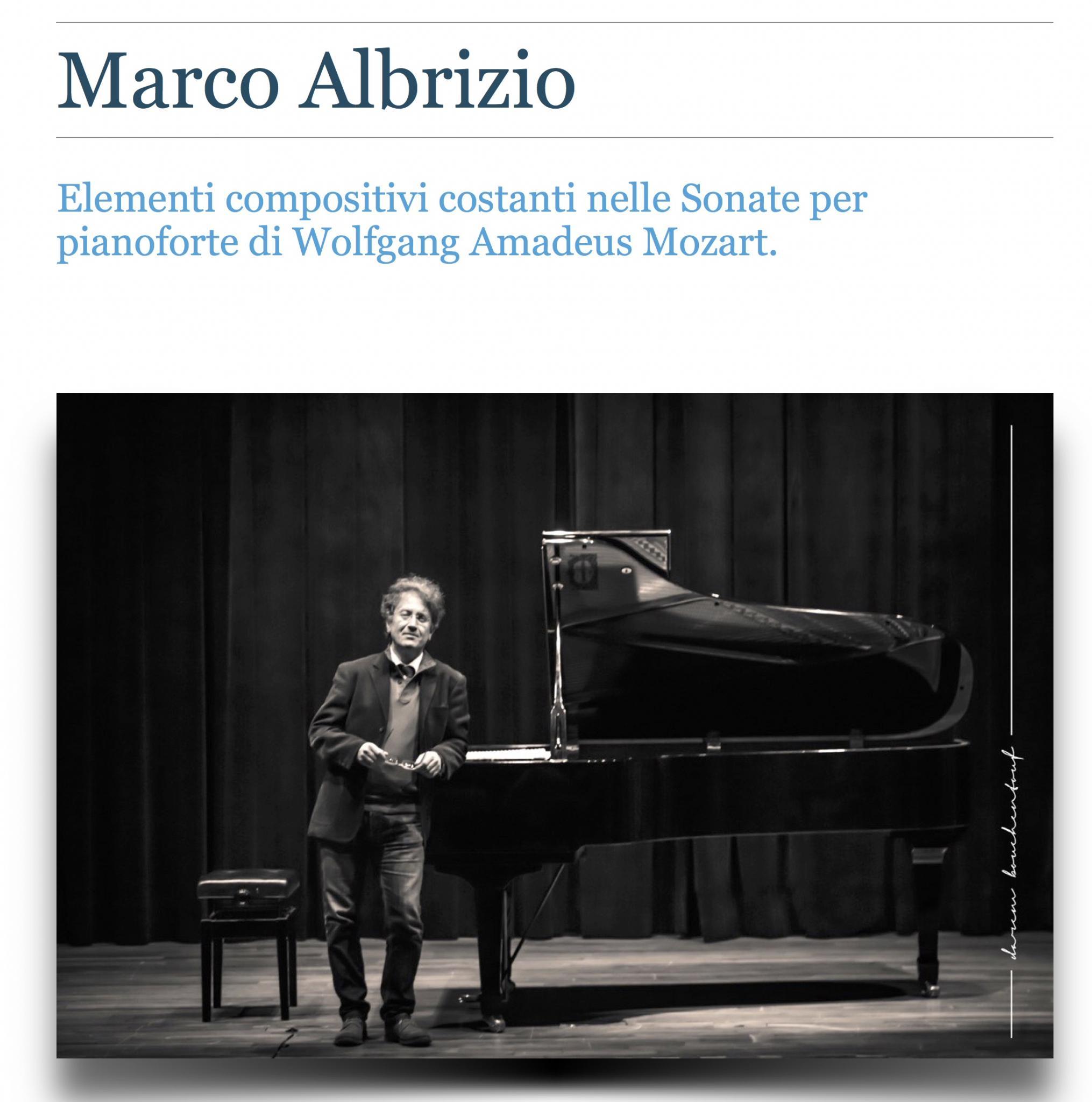 SHEVA 167 MARCO ALBRIZIO Elementi compositivi nelle sonate di W.A. Mozart