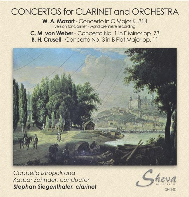 Sheva 040 Concertos for Clarinet and Orchestra