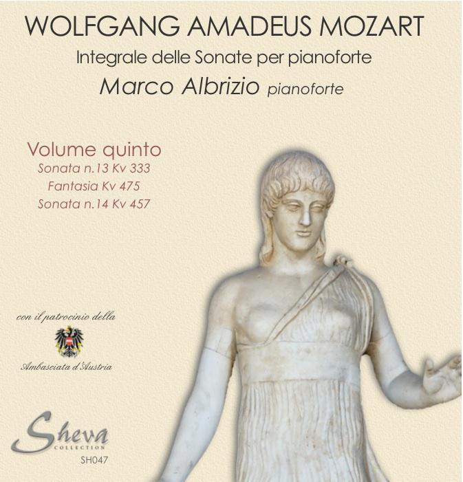 Sheva 047 MOZART - Sonate per pianoforte Vol. V Kv 333, Fantasia Kv 475,Kv 457